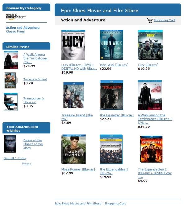 Epic Skies Movie and Film Store